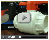 Closing and Opening Large PVC Ball Valves
