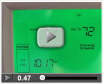 How to Change the Day for VisionPro Thermostats